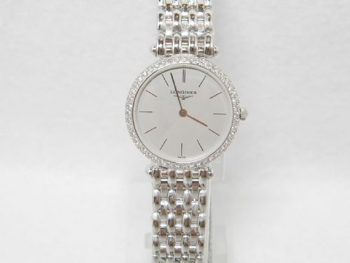 LONGINES La Grande Classique 18ct White & Gold Diamond Ladies Watch L4.191.7.72.6
